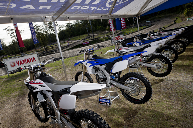 Take your pick - you can purchase the 2012 Yamaha YZ250F in either an SE white or customary blue.