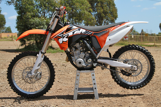 MotoOnline.com.au has productive plans for the 2012 KTM 250 SX-F over the coming months. Image: Alex Gobert.