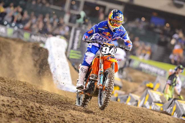 Ken Roczen won Oakland and took over the West Coast 250SX points lead. Image: Simon Cudby.