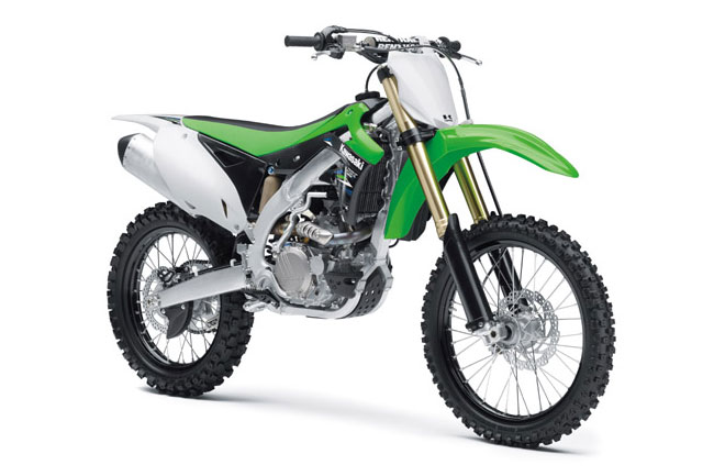 The proven Kawasaki KX450F receives minor updates for 2014.