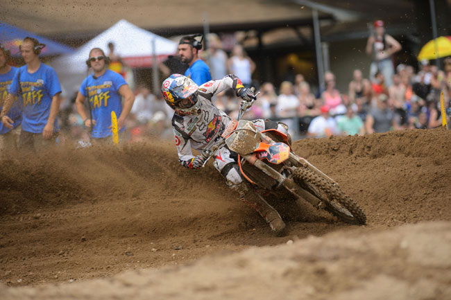 Ryan Dungey scored the overall 450 Class win at Southwick. Image: Simon Cudby.