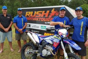 Sherco joins forces with Rush Adventure Tours