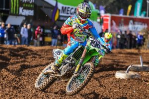 Metcalfe and Crawford shooting for Port Macquarie MX Nationals podium