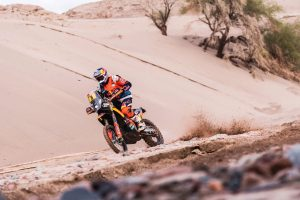 Stage 11 victory places Price in Dakar podium position