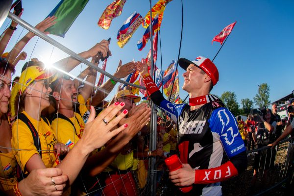 Newly-crowned champion Gajser overwhelmed with emotion